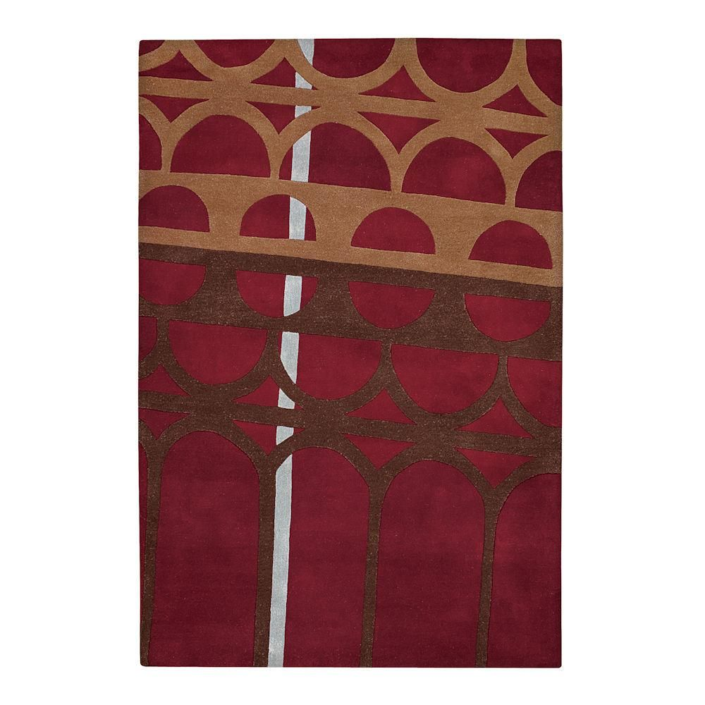 Abstract Trellis Paprika 5 ft. x 7 ft. 6 in. Area Rug-56120058 - The Home Depot