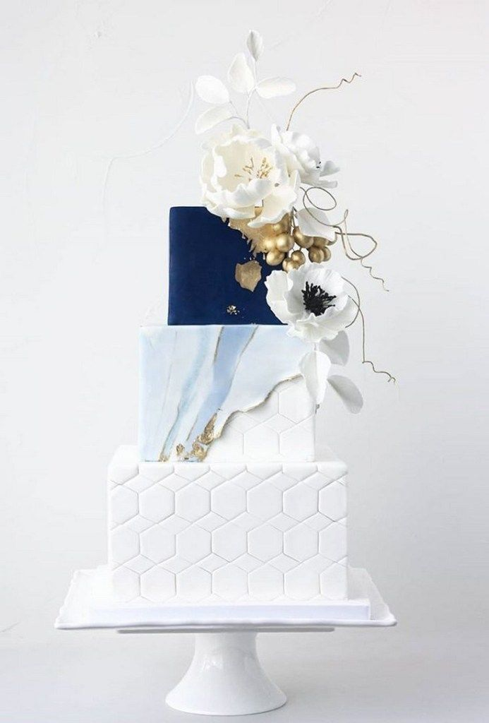 47 einzigartige Aufnahmen der traditionellen weißen Hochzeitstorte 36   – Wedding cakes