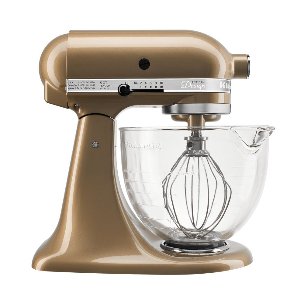 kitchenaid artisan design stand mixer with glass bowl