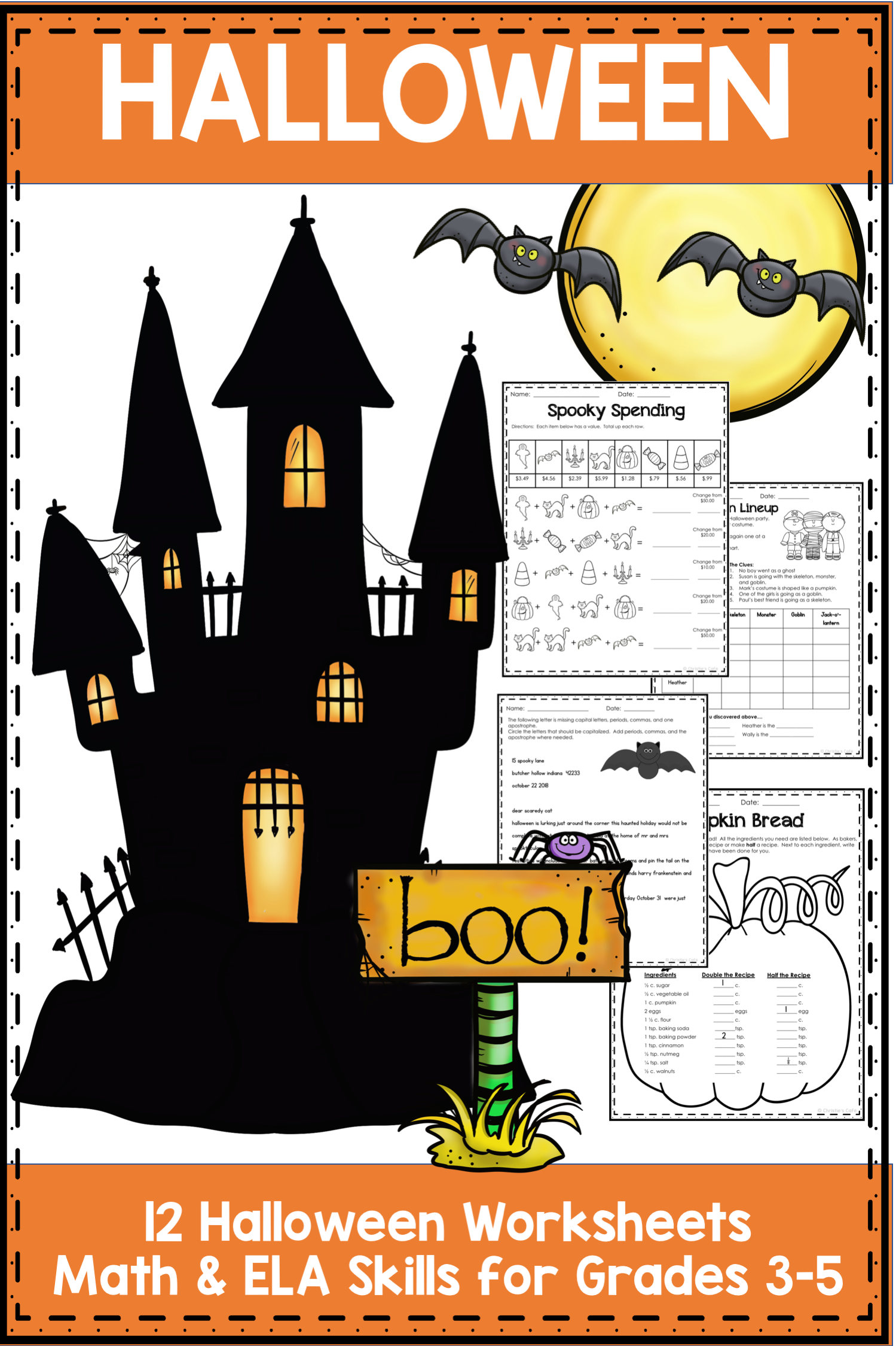 Halloween Worksheets Grades 3 5