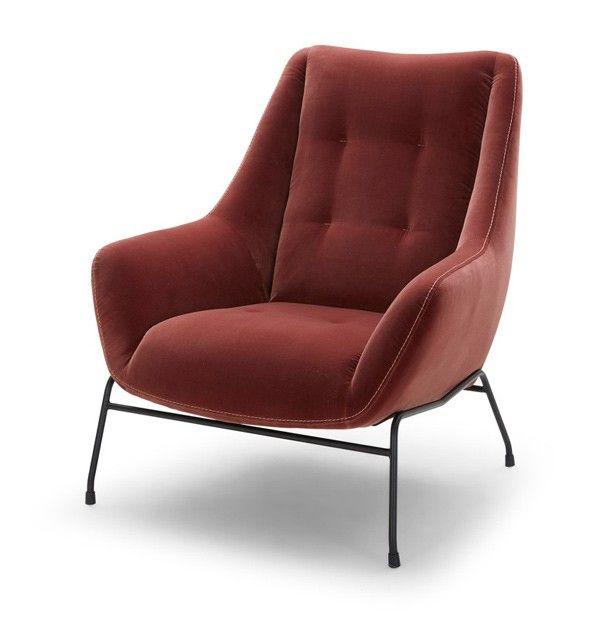 Vig Furniture Divani Casa Kenova Modern Brown Fabric Accent Chair Vgkka1113 Brn Fabric Accent Chair Fabric Armchairs Leather Accent Chair