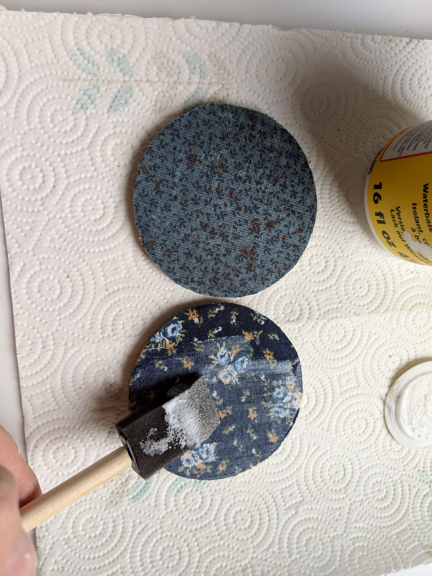 Mason Jar Lid Coaster Tutorial