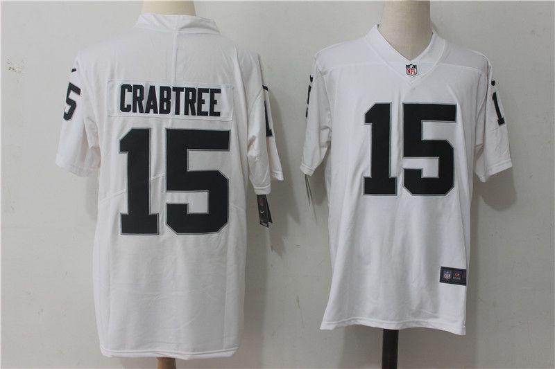 Men Oakland Raiders 15 Crabtree White Nike Vapor Untouchable ...