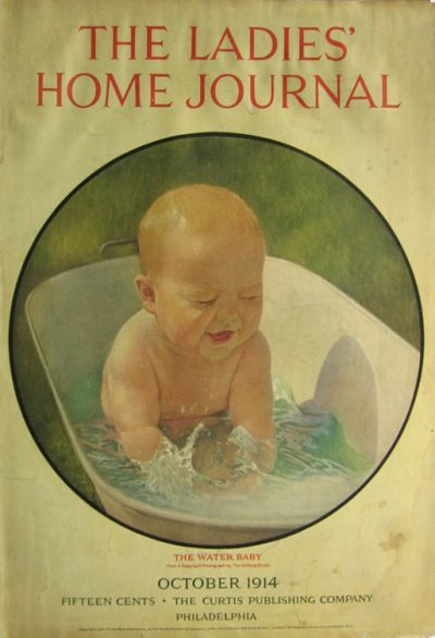 1914 Ladies Home Journal cover--baby\'s bath | Vintage Baby I ...