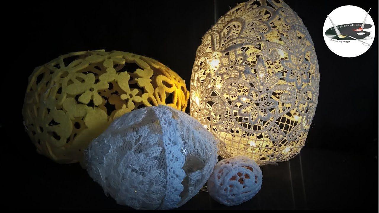 Koronkowe Azurowe Pisanki Na 4 Sposoby Pomysly Plastyczne Dla Kazdego Crafts Diy Decor