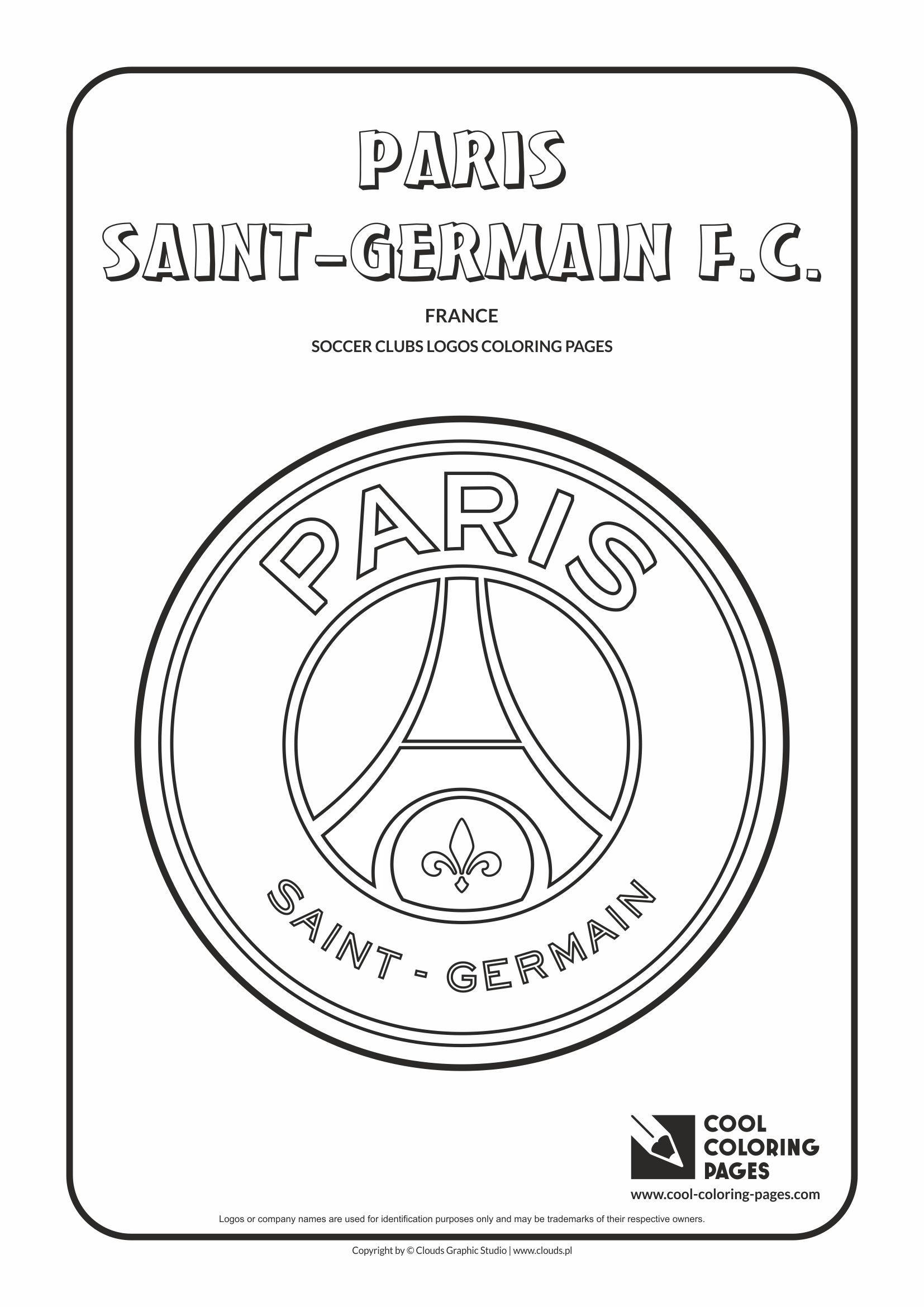 Cool Coloring Pages Soccer Clubs Logos Paris Saint Germain