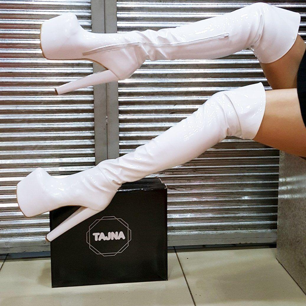 f7fa79f47d0 White Strech Over Knee Boots – Tajna Club