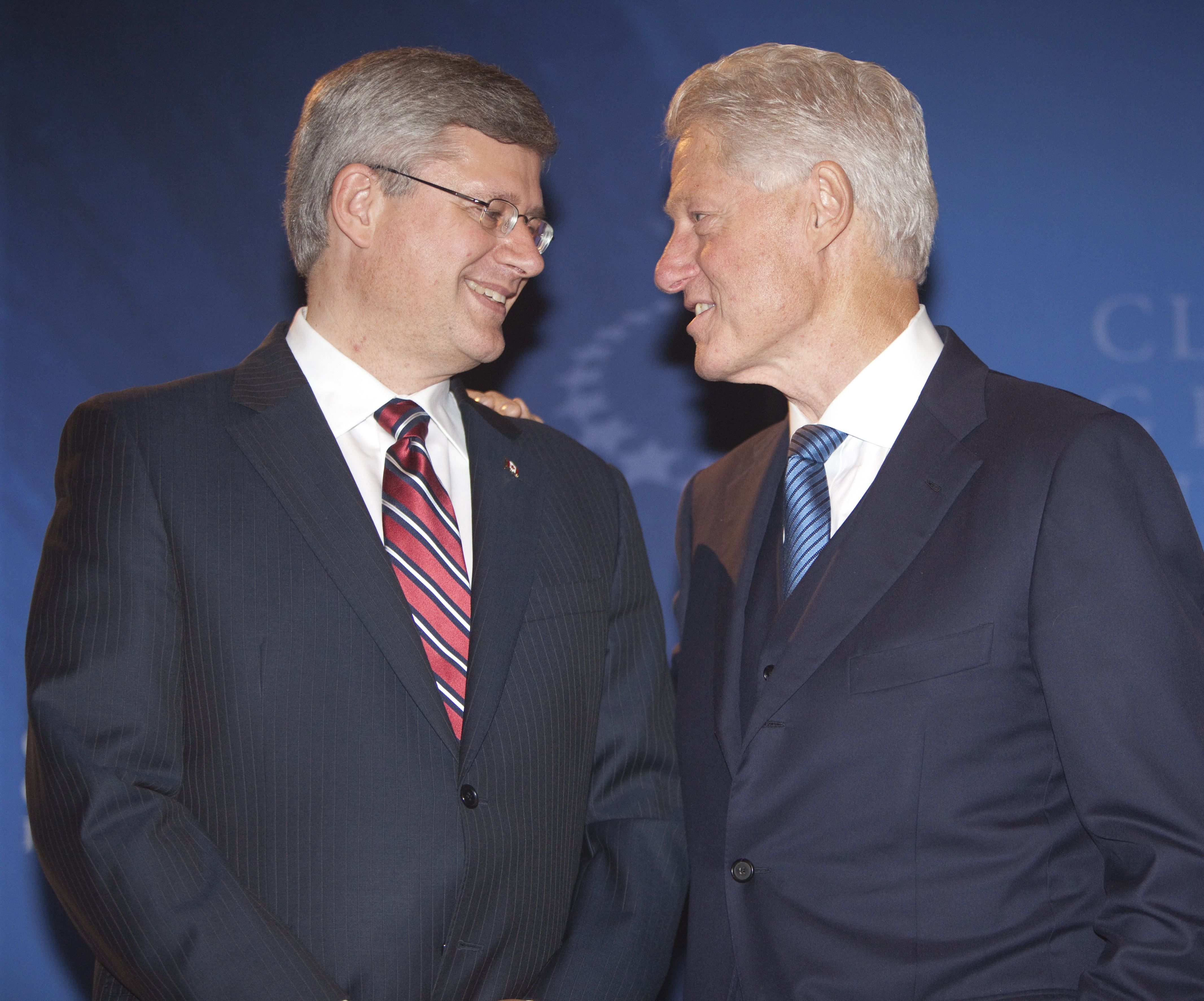 stephen harper and bill clinton http www ctvnews ca canada