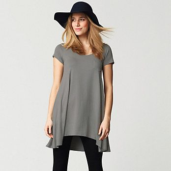 Curved Hem Swing Jersey Tunic | The White Company