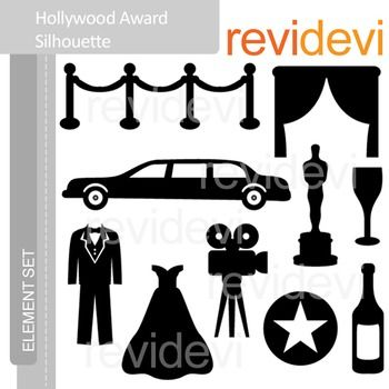 Clipart Hollywood Award Silhouette