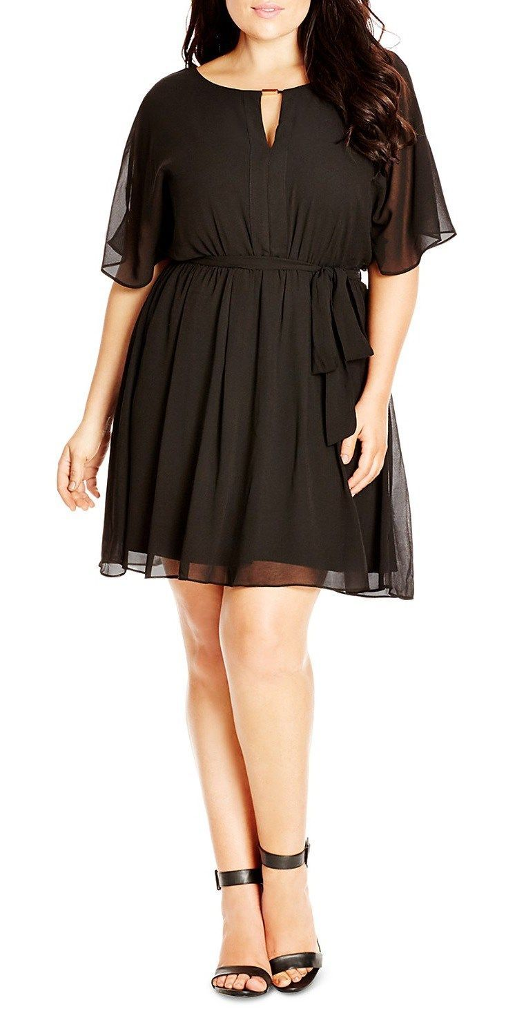 18 Plus Size Black Dresses {with Sleeves | Kleid 50er, Schwarzes ...