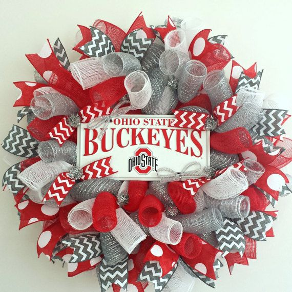 Ohio State Buckeyes Ohio State Wreath Ohio State Wreath ...