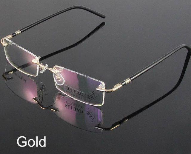 2e77f810e42 Fashion Eyewear Unisex Glasses Frame Concise Design Rimless Eyeglasses Men  Women Name Brand Glasses Spectacles Optical Goggles