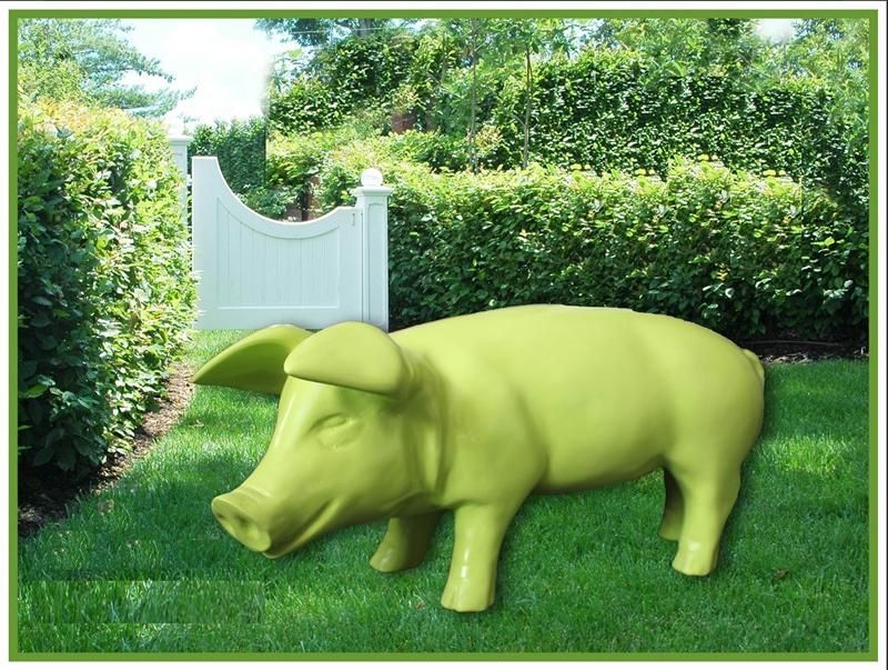 Grosse Bunte Gartenfiguren Schaf Ferkel Zur Auswahl Figuren Fur Haus Und Garten Gartenfiguren Haus Und Garten Skulpturen Garten