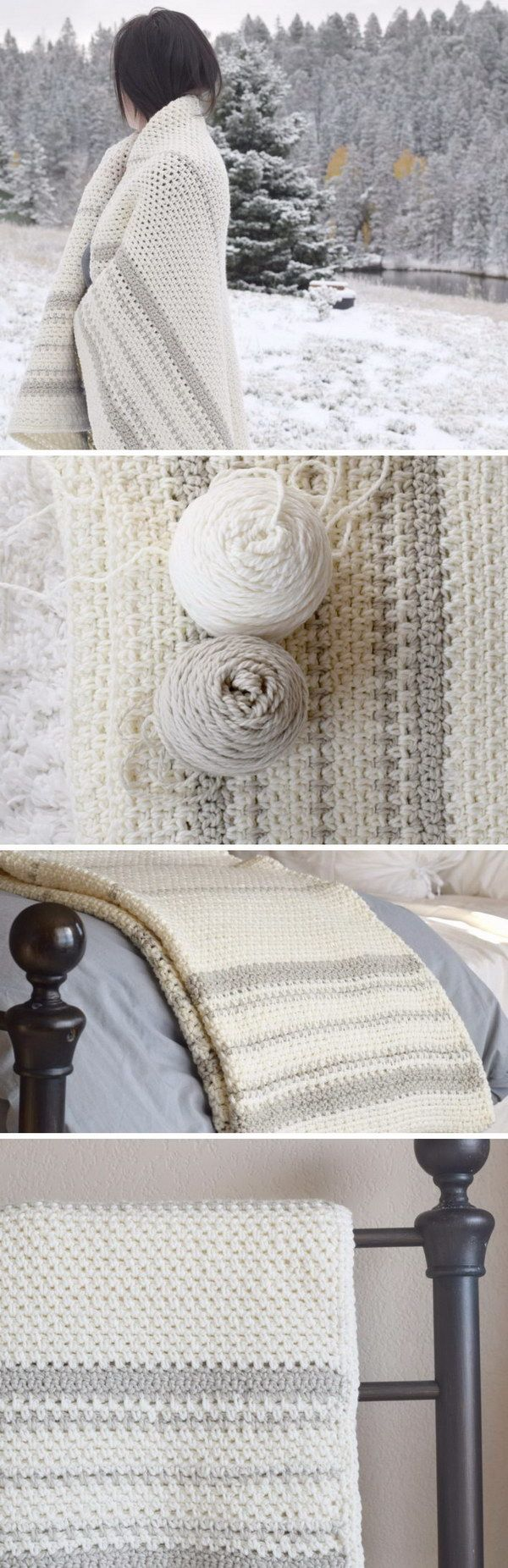20+ Awesome Crochet Blankets With Tutorials and Patterns | karışık ...