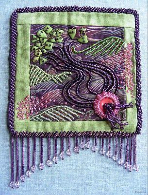 bead embroidery | Felting Ideas | Pinterest | Perlenstickerei ...