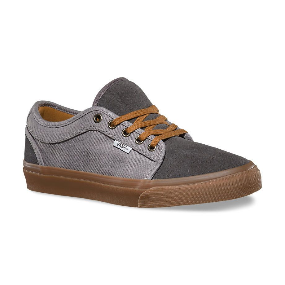 Zapatillas Shoes Mens Vans Chukka Low Two Tone Grey Gum Street Skate Urban