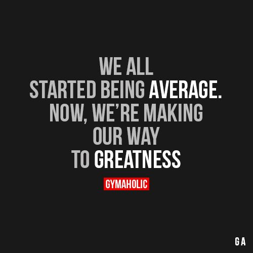 We All Started Being Average
