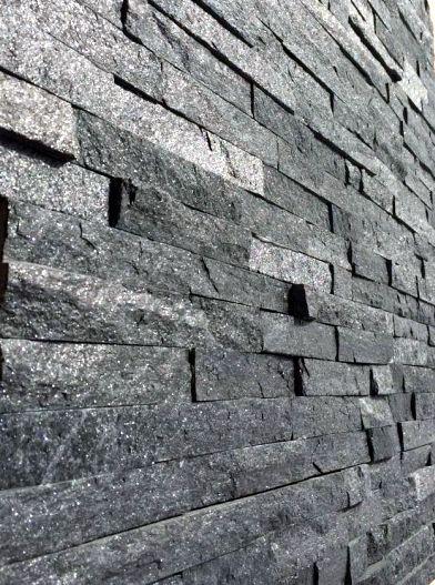 Roterra Stone Siding Black Sparkle Ledgestone Quartzite 6 X24