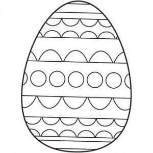 Free Printable Easter Egg Coloring Page 11