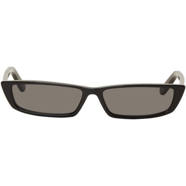 Black Thin Rectangular Sunglasses Balenciaga JlenDH7l