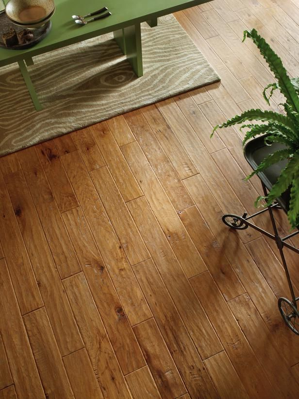 This Solid Hickory Hardwood In A Light Chestnut Color Is Heavily Textured For A Rustic Appearance Hardwood Floors Hardwood Floors In Kitchen Flooring
