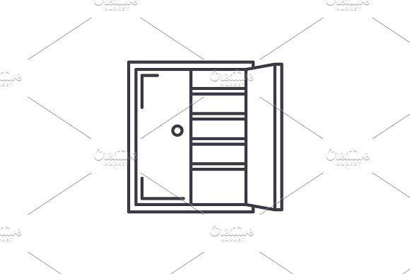 Closet line icon concept. Closet Line icon, Urban icon