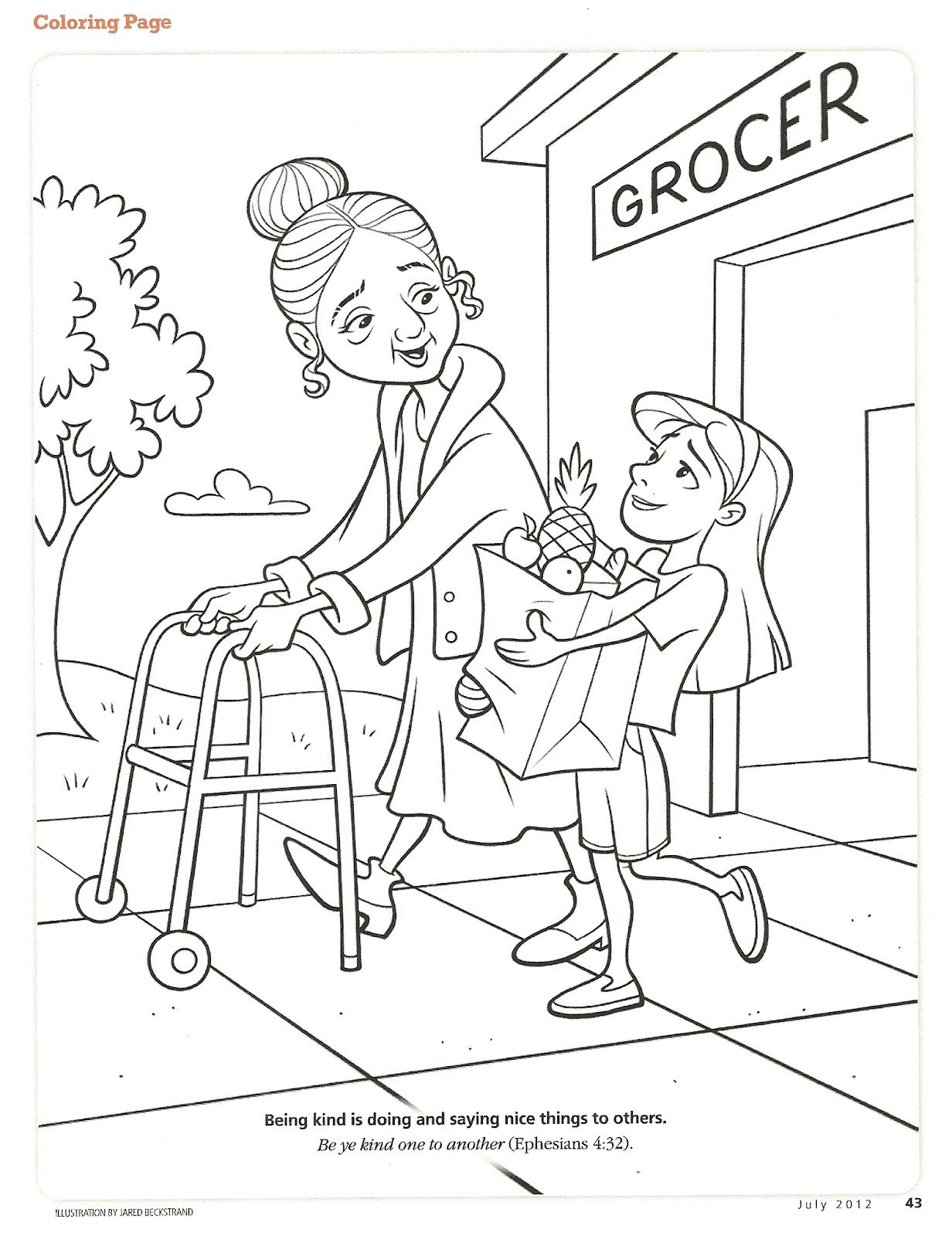 Kindness Coloring Page Fruits Of The Spirit