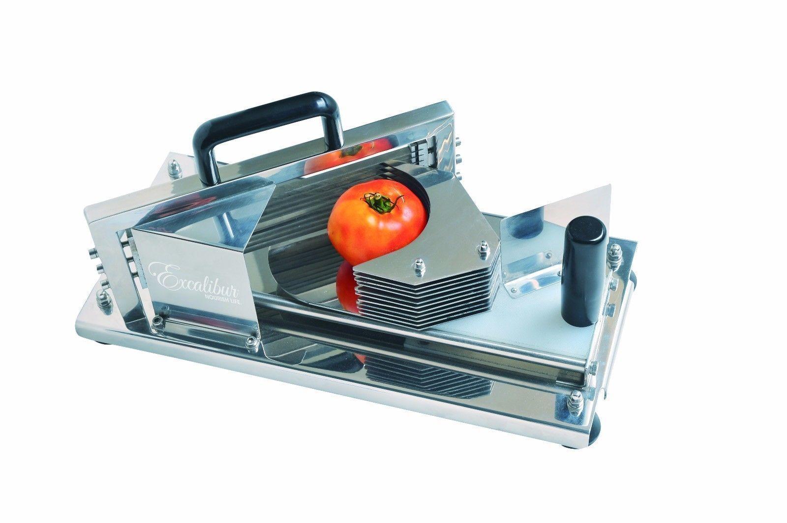 Excalibur Fruit &Vegetable Slicer, Stainless Steel Meat Slicer, EVS100
