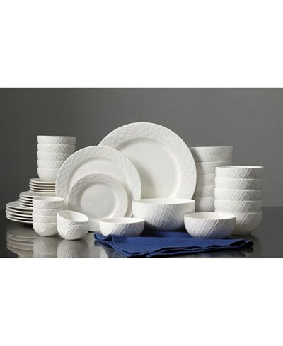White Elements Lexington 42-Pc. Dinnerware Set Service for 6 - Dinnerware - Dining \u0026 Entertaining - Macy\u0027s  sc 1 st  Pinterest & White Elements Lexington 42-Pc. Dinnerware Set Service for 6 ...