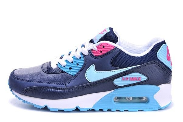 new arrival 453da 3b783 Discount Nike Air Max 90 Online White Dark Blue Womens Shoes, AUD  45.02    www.topbrandshoes.net