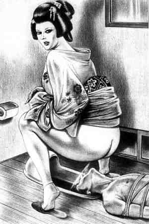 toilet Young slave boy