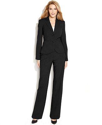c032ead9a0023 Calvin Klein Two-Button Blazer Pantsuit - Suits   Suit Separates - Women -  Macy s