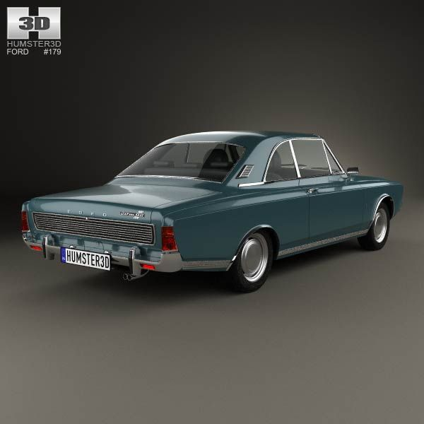 3d Model Of Ford Taunus P7 20m Coupe 1968 3d Modelle Modell