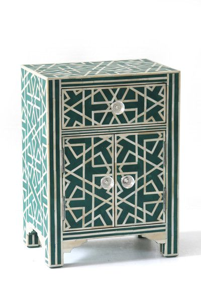 Bone Inlay 2 Door Side Cabinet Iberia Jade Bone Inlay Furniture Inlay Furniture Bone Inlay Bedside Table