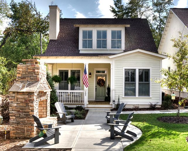Awesome Small House Exterior Design With White Paint Color Schemes