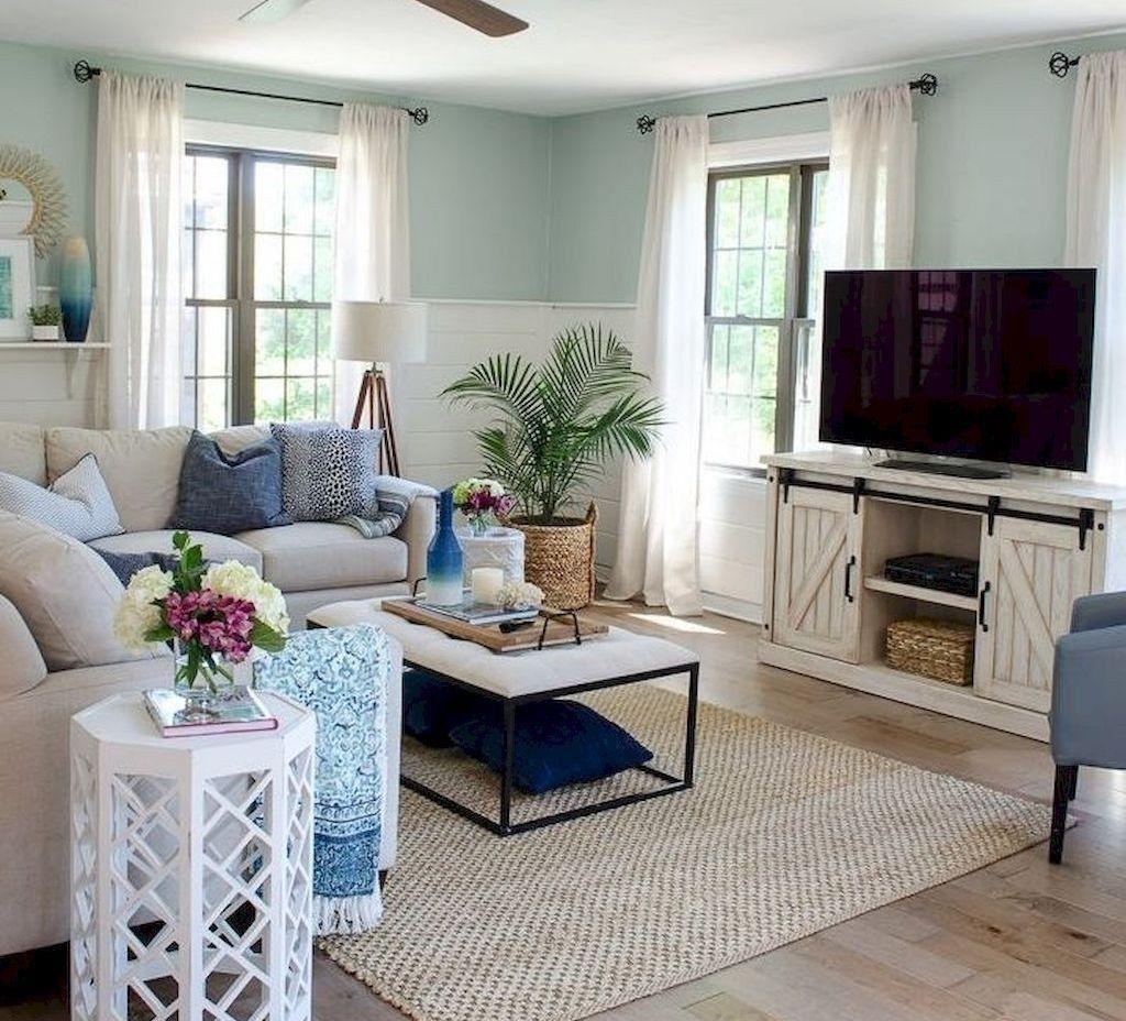 45 Magnificient Coastal Living Room Decor Ideas #coastallivingrooms