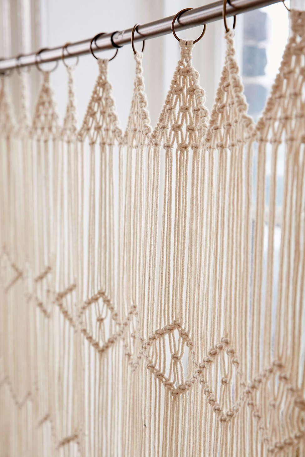 Macrame Wall Hanging  crochet  Cortina de macram