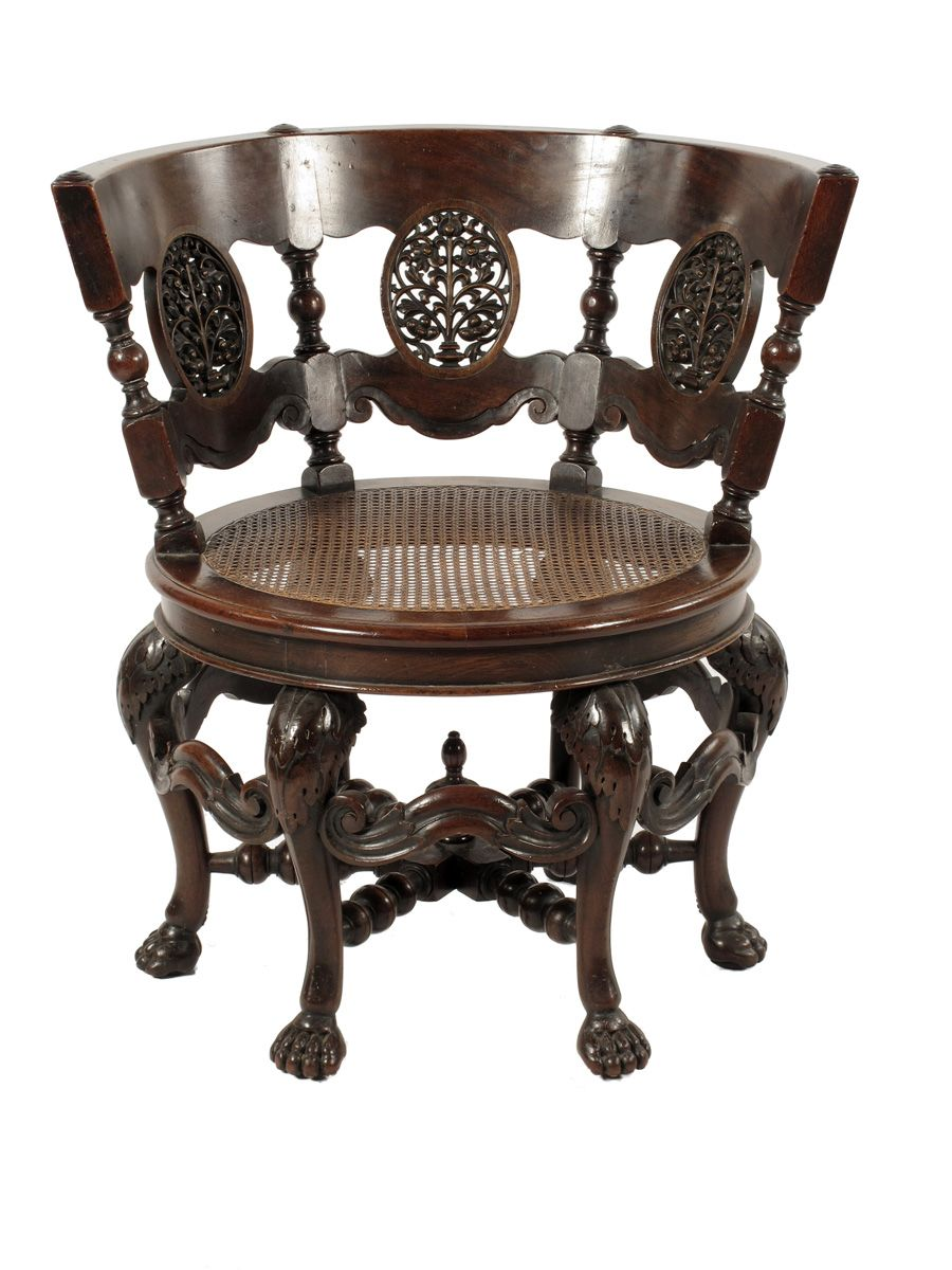 Furniture Kitchener A Dutch Colonial Hardwood Burgomeister Chair Late 19th Century