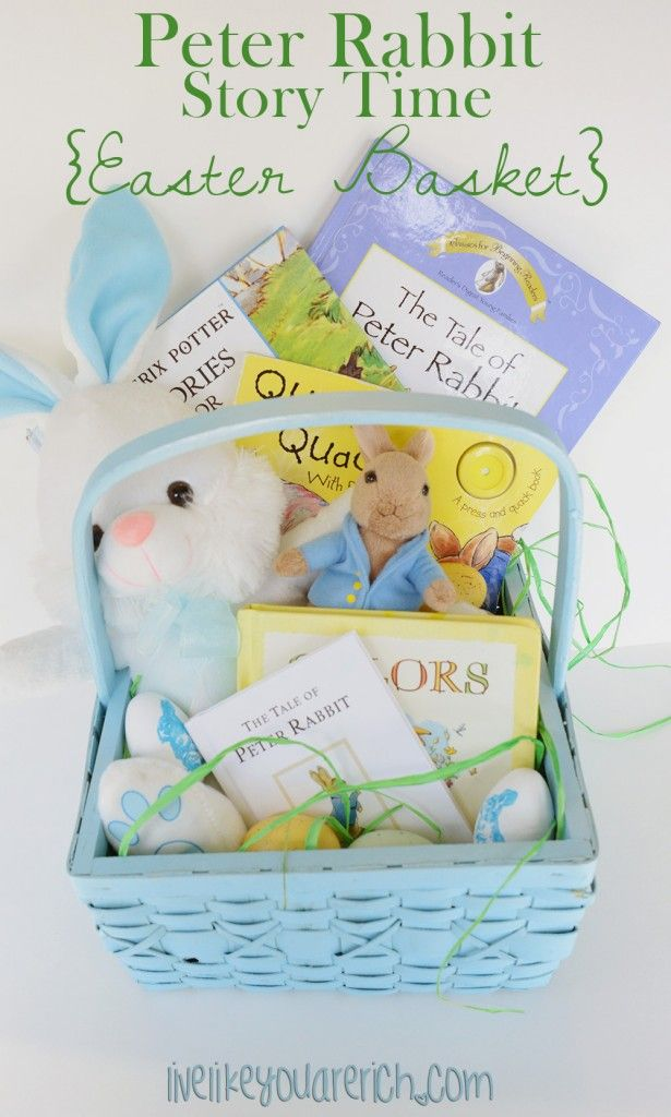 Peter rabbit story time easter basket no candy my mommy peter rabbit candy free easter basket inexpensive fun and educational negle Image collections
