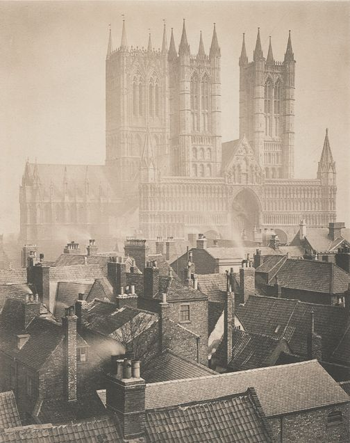 Lincoln Cathedral from the castle, 1898