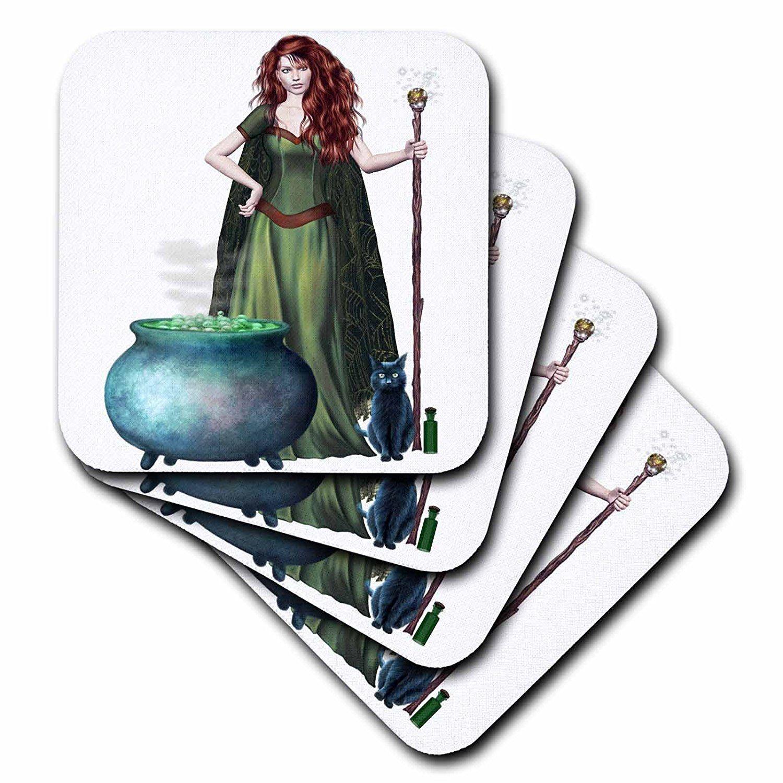 3dRose cst_131386_3 Halloween Witch Cauldron Cat Ceramic