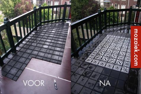 Tapijt Voor Balkon : Mozaiek utrecht u mediterrane balkonvloer met cementtegels