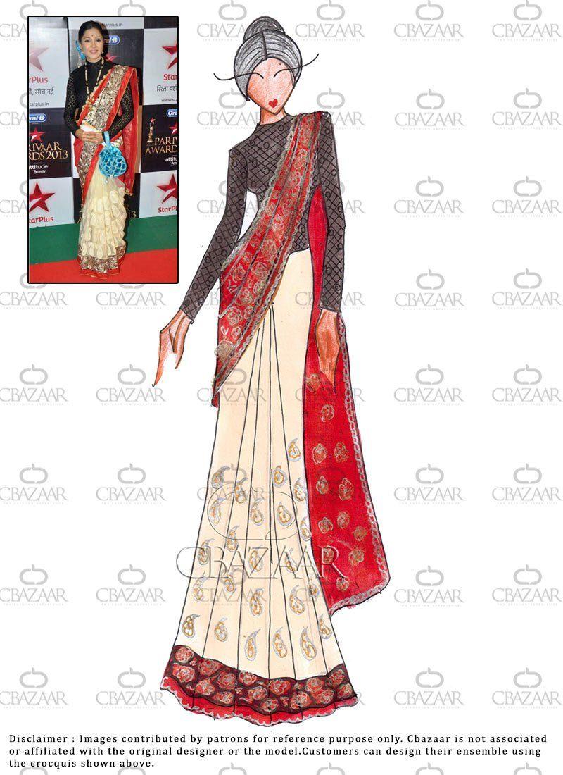 Diy Net and AvantikaKumar Saree Dress