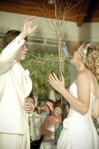 I love this. Singing a worship song at the wedding to praise God for ...