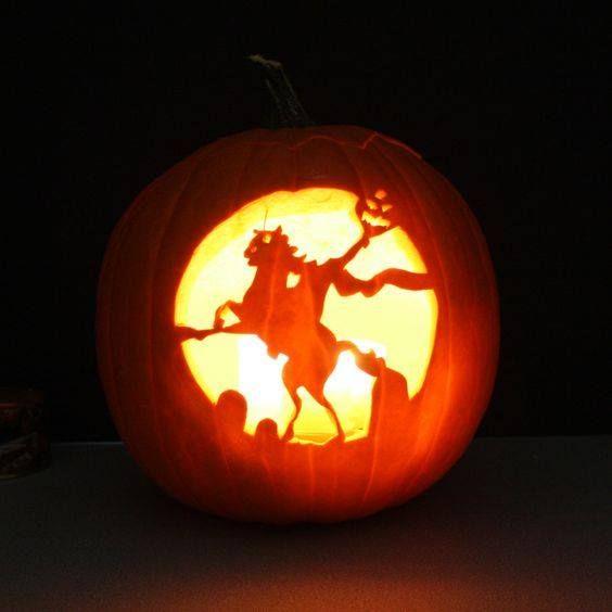 Headless Horseman Pumpkin Pumpkin Carving Creative Pumpkin Carving Pumpkin Carving Designs