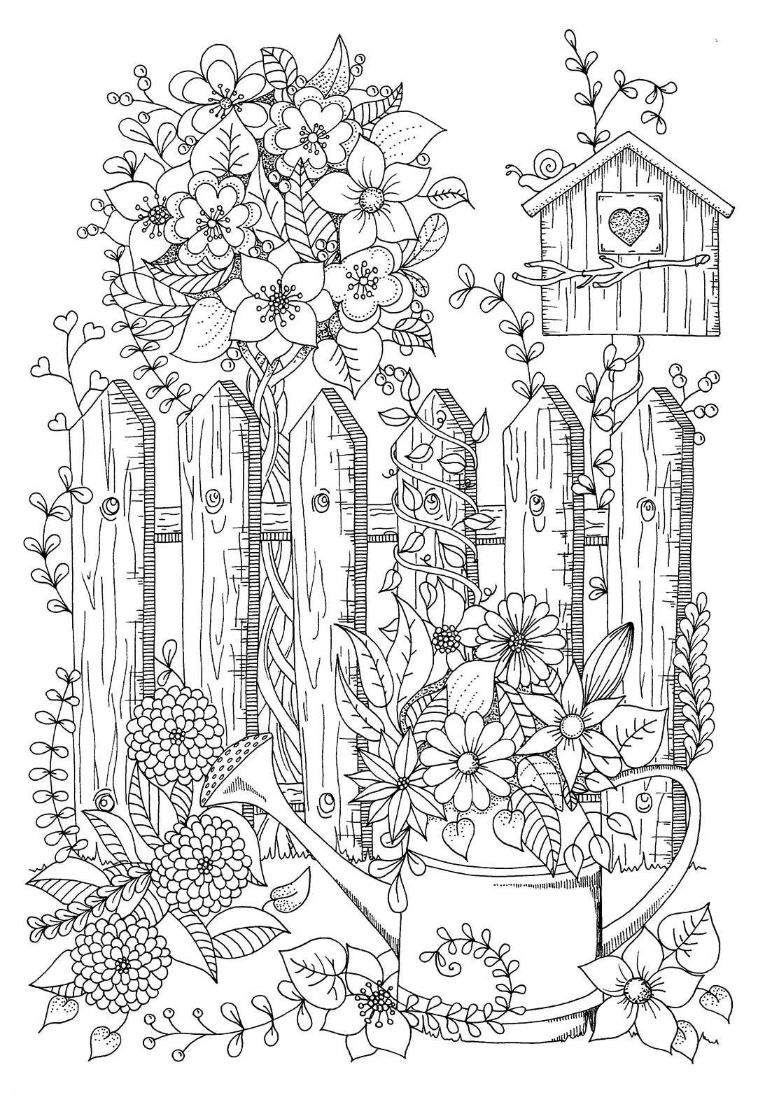 Webwinkel Boekscout Nl Sabine Van Ee Mijn Droomtuin Het Kleurboek Voor Volwassenen Kleurboek Kleurplaten Dieren Kleurplaten