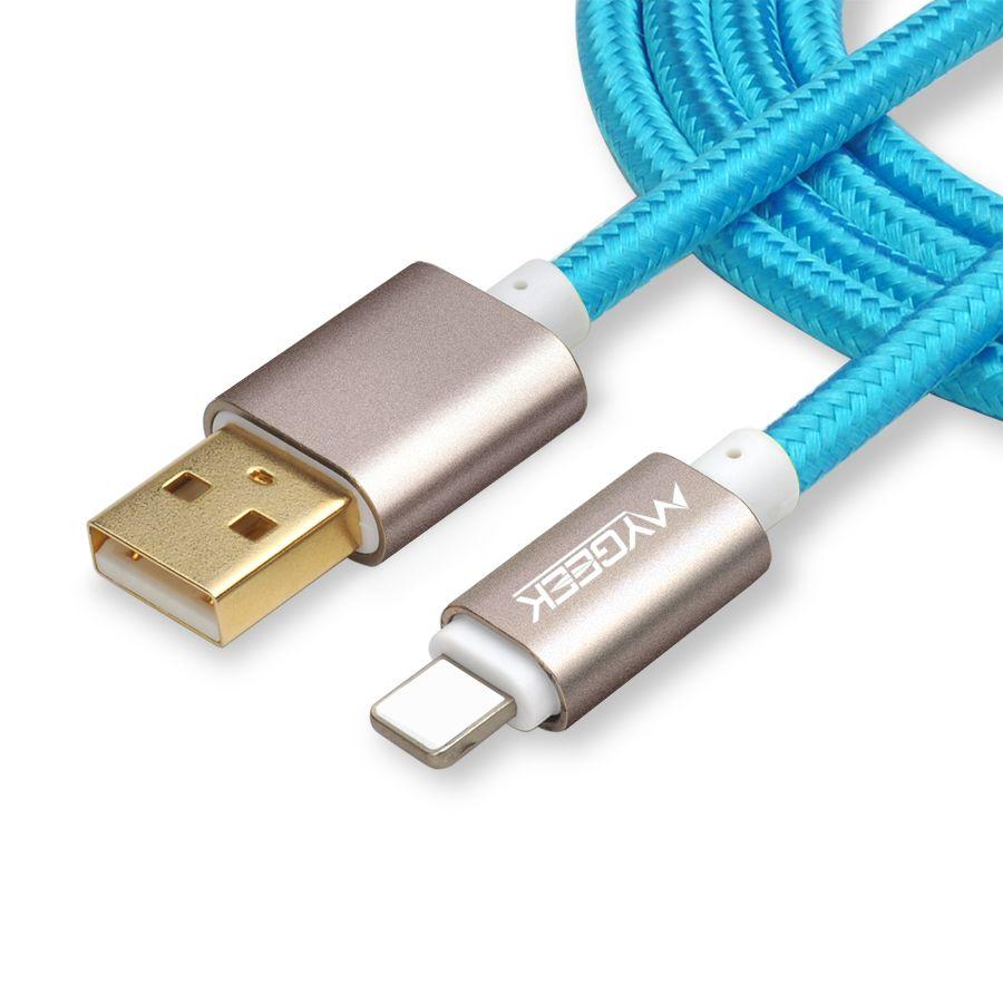 Mygeek top quality usb cavo di ricarica per iphone 5 5 s 6 s 6 7 più cavo di sincronizzazione di dati del caricatore del telefono mobile 2 m 3 m filo per ios 9 10