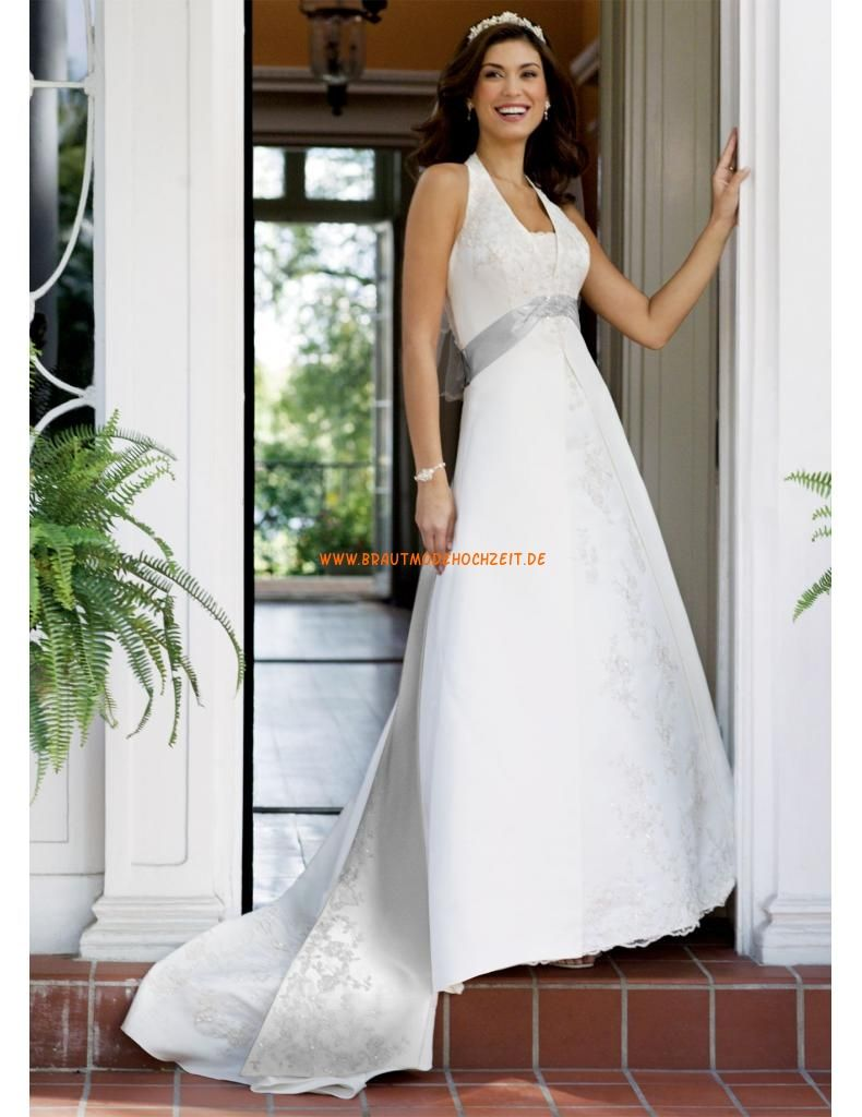 Satin A-line Halter elegant Brautkleider 2014 | wedding dresses ...