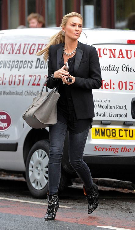 9675c7902e09 WAG Alex Gerrard lunches in Liverpool wearing Isabel Marant boots ...